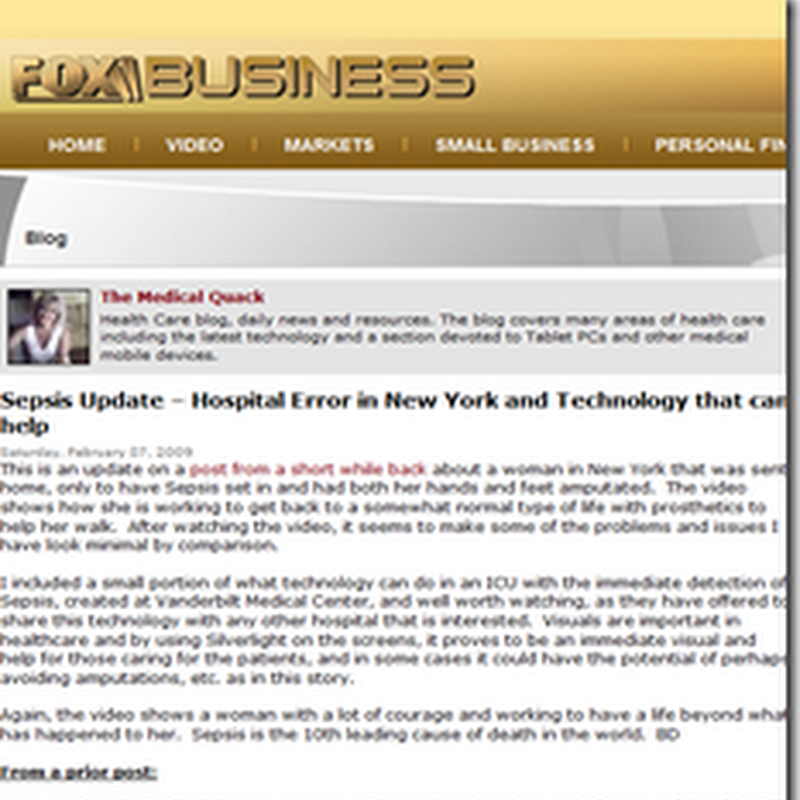 Medical Quack on the Web this Week – Feb. 9, 2008
