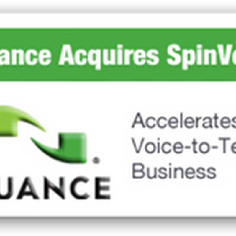 Nuance Buys SpinVox – Speech Recognition With Voice to Text With Cell Phones