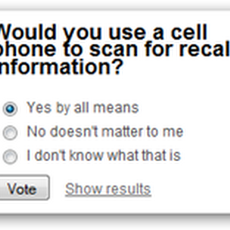 More Children's Medicine at J and J Recalled – We Need Ability to Scan Products With Our Phones - Be Sure to Vote