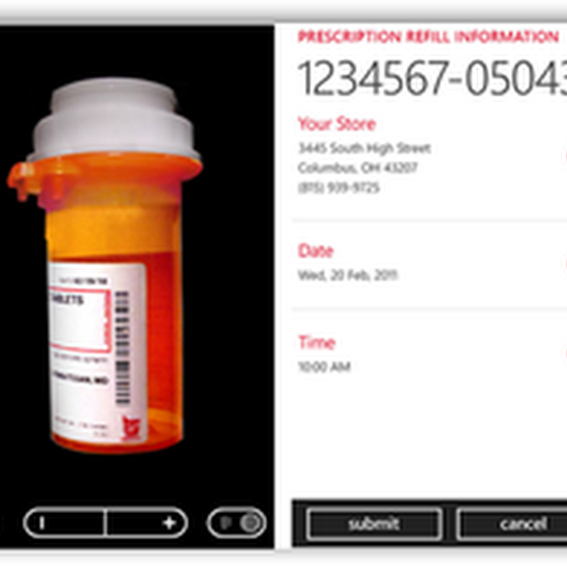 Walgreens Releases Windows 7 Application Using Bar Code Technology To Order Prescription Refills