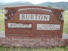 George Burton's Grave
