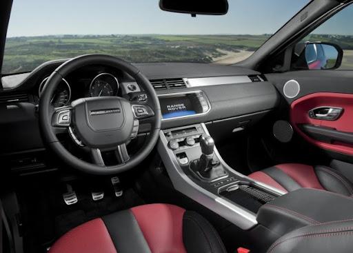 parte interna Range Rover Evoque 2011