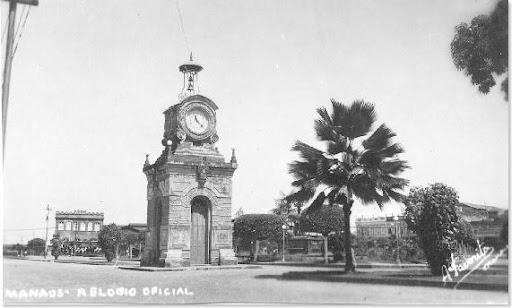 Relógio municipal na Avenida Eduardo Ribeiro em Manaus