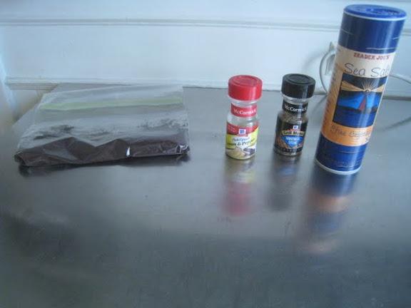 The dry rub ingredients