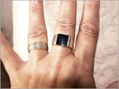 silver oynx ring