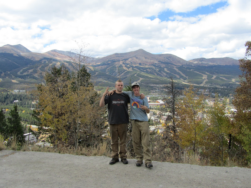 joe and jack at breckenridge scenic overlook