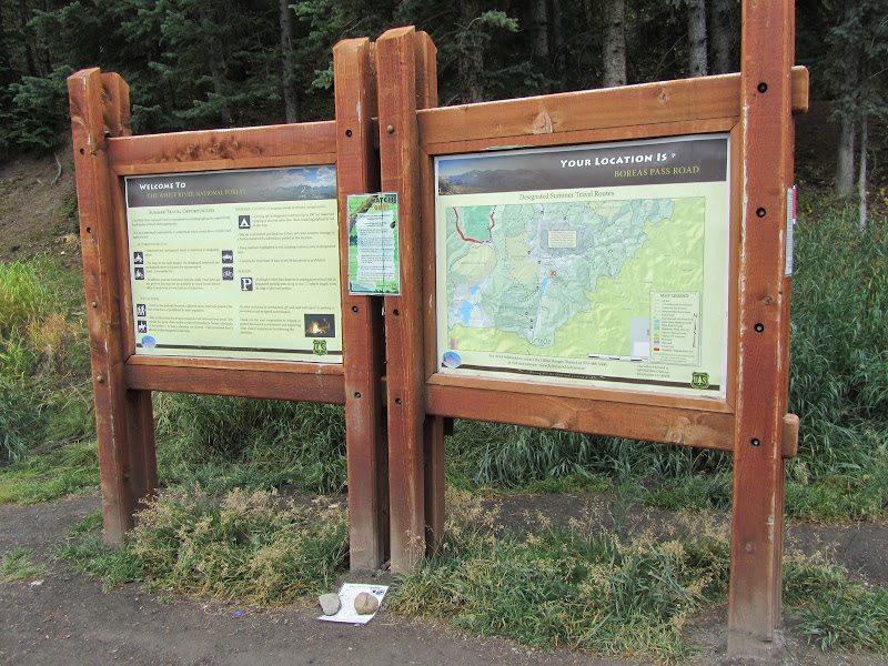 USFS sign at Boreas Pass