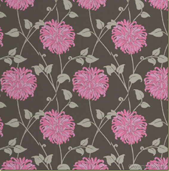 How about some pink and brown wallpaper. This would be stunning in a