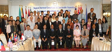 Participants to the regional technical consultation on aquaculture