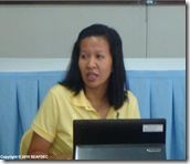 AQD scientist Dr. Junemie Lebata-Ramos gives a lecture on coastal and marine ecosystems
