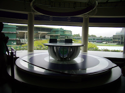 This was the set of the BBCs Wimbledon Studio.