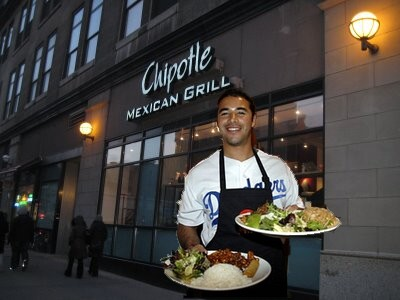 Chipotle is my favorite fast food joint and Andre is my favorite Dodger...ahh perfect combo!