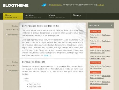 Бесплатный премиум шаблон BlogTheme