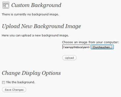 Custom background image thesis wordpress