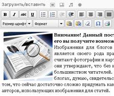 wordpress текстовый редактор