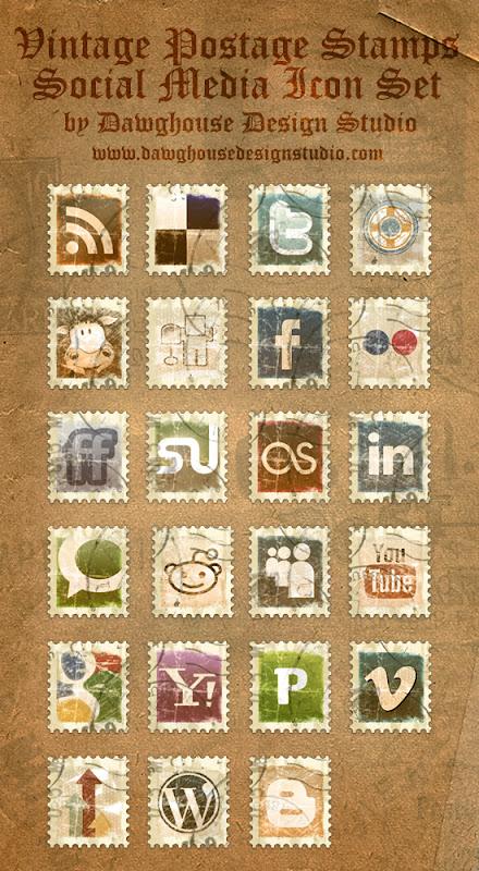 винтажные марки иконки