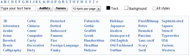 online каталог шрифтов