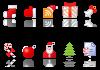 новогодние иконки мини пиктограммы