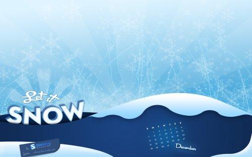 снег обои на рабочий стол зима