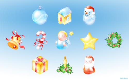 рождество новый год иконки