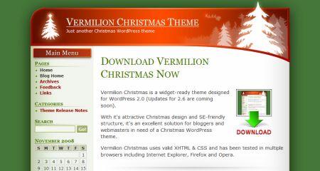 рождественский шаблон для сайта зимний