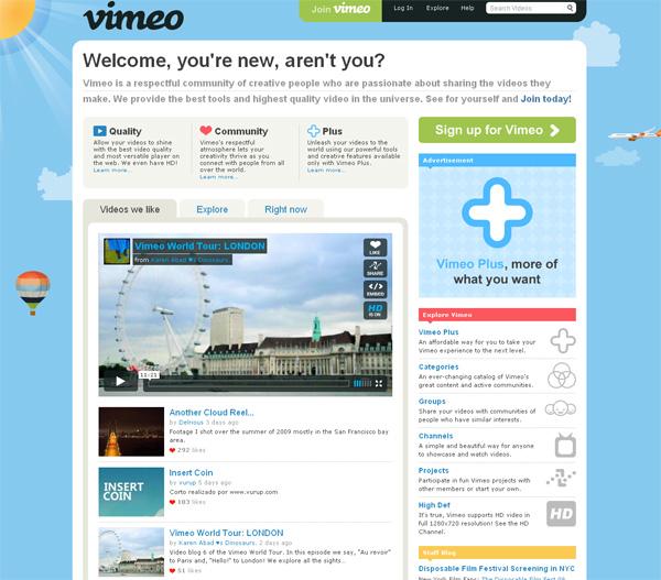 Vimeo HD видео