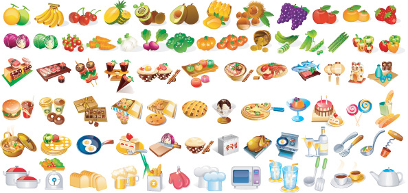 vector icons Pictures Food
