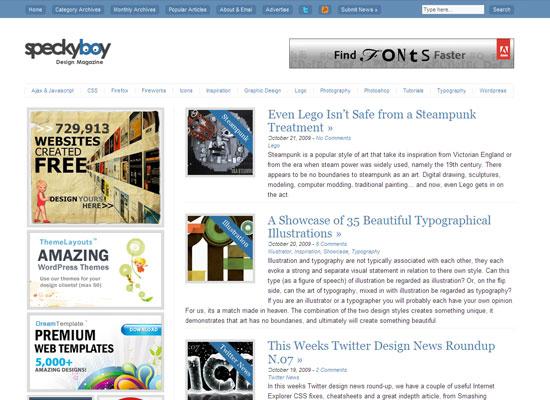 Speckyboy Design Magazine дизайн блог