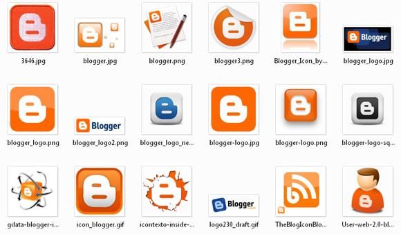 логотипы Blogger Blogspot