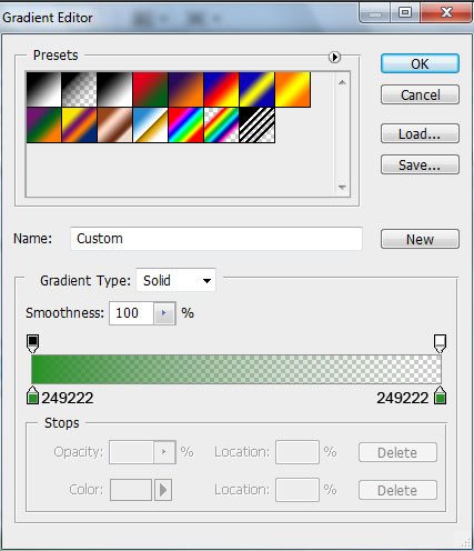Photoshop gradient