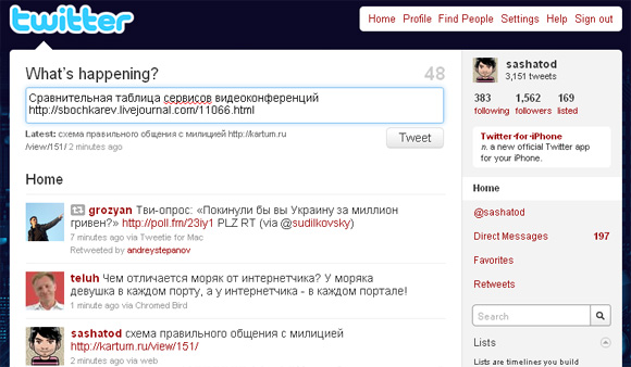 реклама в твиттере