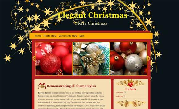 рождественский шаблон Blogger