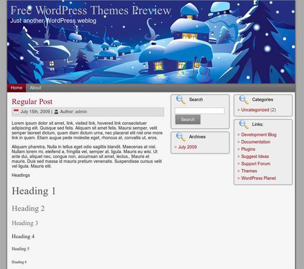 рождественский шаблон wordpress