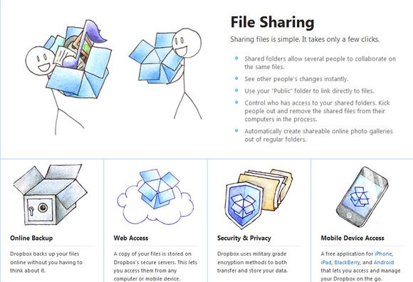 онлайн хранилище данных Dropbox