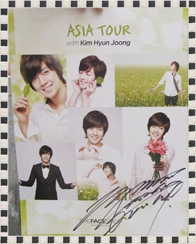 An autographed poster