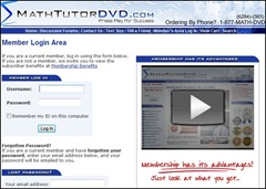 membership area math tutor dvd