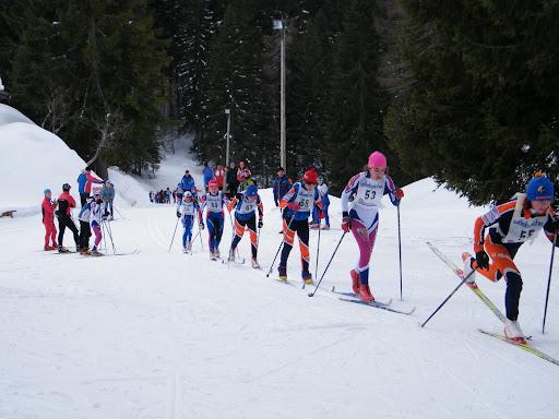 La gara a Passo Cibiana (foto GS Centro Cadore)