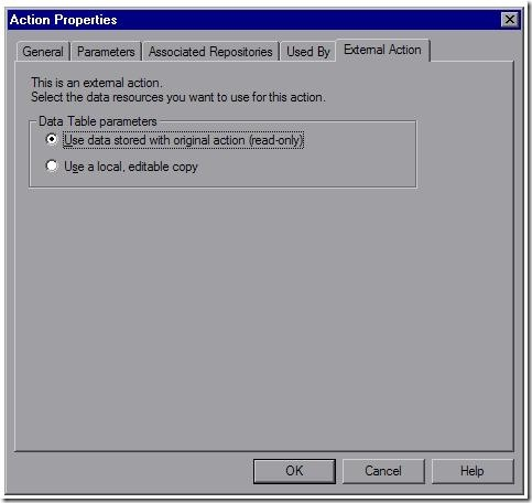QTP Action Properties2