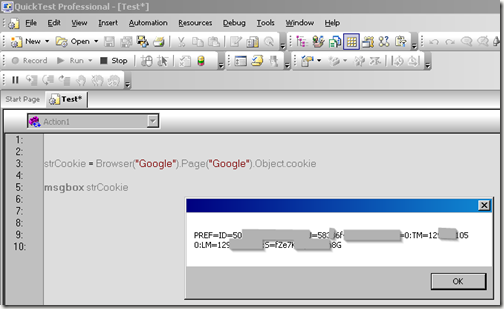 Retrieve value of cookies for a web page with HP QTP