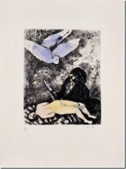Marc Chagall, Abraham prêt à immoler son fils, 1931 © by SIAE 2009