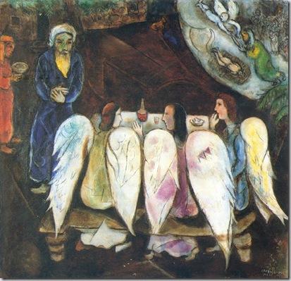 Marc Chagall, Abraham et les trois anges, 1940-1950 © by SIAE 2009