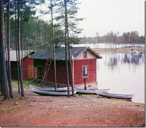 On the Saimaa Lake; between 1905 and 1915 Sergei Mikhailovich Prokudin-Gorskii Collection (Library of Congress).