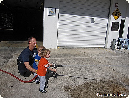 rals and gus firing the fireman's hose! (11)