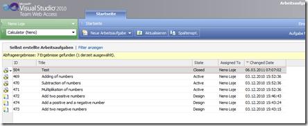 Work Item Only View zeigt nur Work Items, die man selbst angelegt hat (= keine CAL erforderlich).