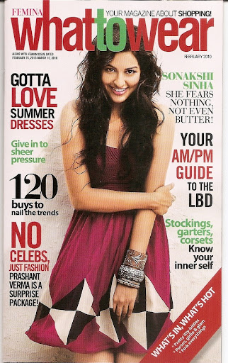 Sonakshi Sinha features on the cover of Femina-What to Wear