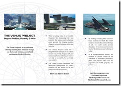 The Venus Project Leaflet - Outside
