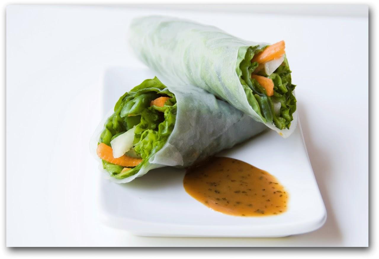 Vegetable Summer Rolls The Road Forks Travel And Food Blog
