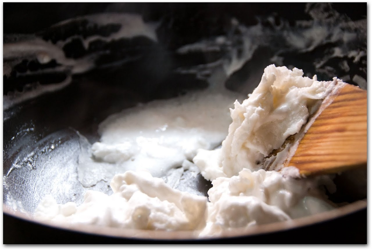 Batter being cooked