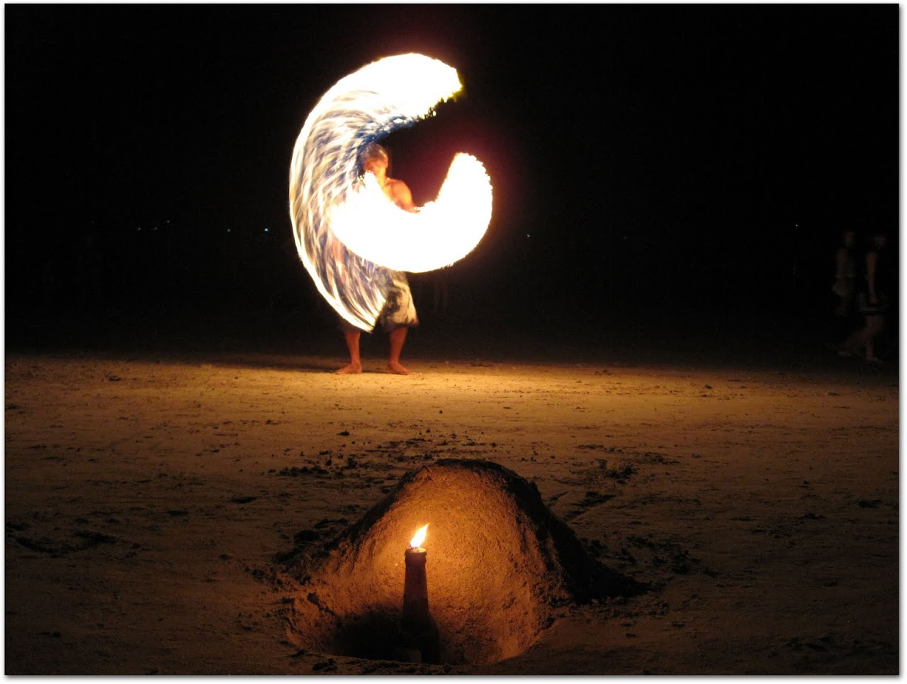 Fire dancer in Koh Tao