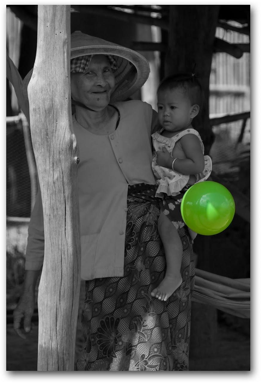 Grandmother and child in Cambodia
